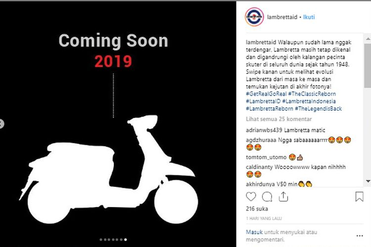 Lambretta siap meluncur April 2019