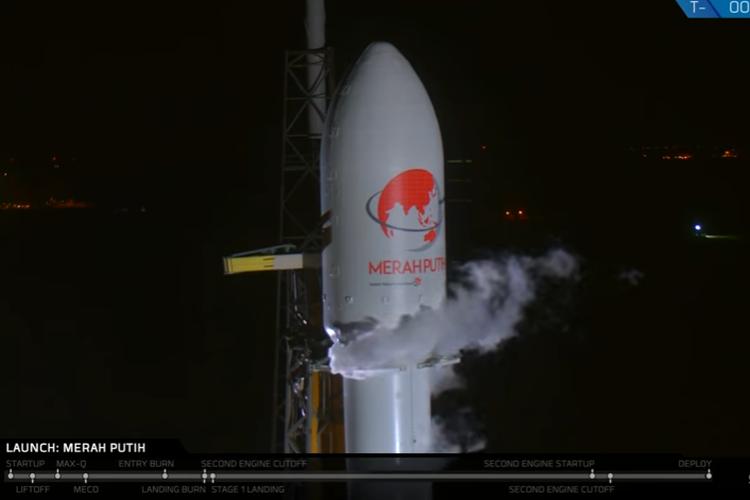 Peluncuran Satelit Merah Putih Milik Pt Telkom Indonesia Persero Tbk Dengan Spacex Dari Florida