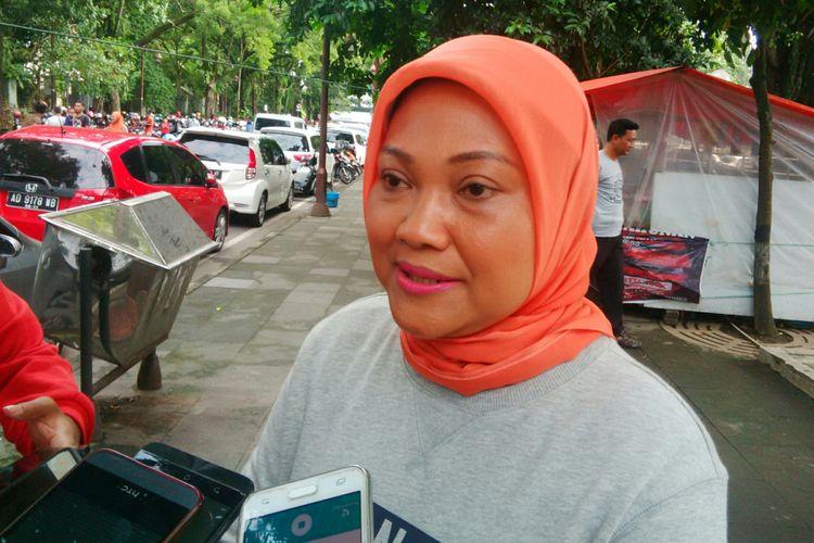 Cawagub Jateng, Ida Fauziyah saat ditemui di Sriwedari Solo, Jawa Tengah, Minggu (11/3/2018).