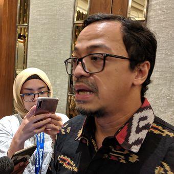 Henri Kasyfi, Sekjen APJII, dalam acara pemaparan Survei Polling Indonesia di Jakarta, Rabu (15/5/2019)