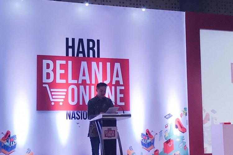Grand Launching Hari Belanja Online Nasional (Harbolnas) tahun 2018 di Jakarta Pusat, Rabu (5/12/2018)