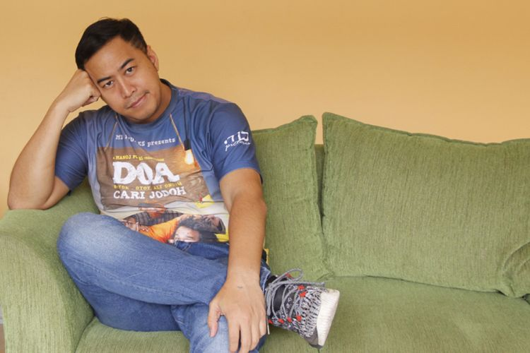 Pandji Pragiwaksono saat berkunjung ke kantor redaksi Kompas.com, Palmerah Barat, Jakarta Pusat, Jumat (10/8/2018).