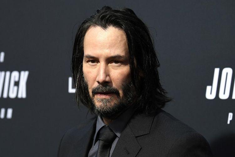Aktor asal Amerika Serikat Keanu Reeves menghadiri pemutaran khusus film John Wick: Chapter 3 - Parabellum di TCL Chinese Theatre, Hollywood, California, pada 15 Mei 2019.