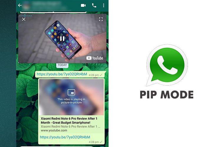 Fitur PiP pada WhatsApp. (Gizmochina)