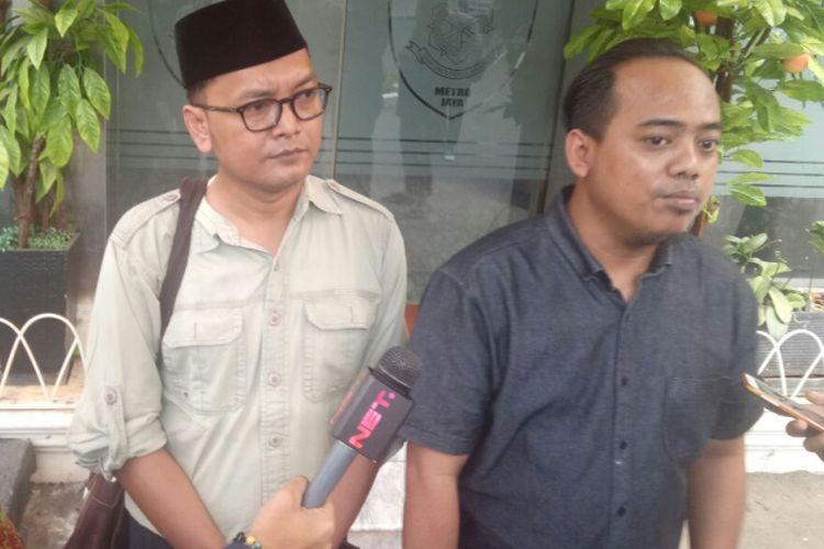 Guntur Romli, dan Muannas Al Aidid saat berada di Mapolda Metro Jaya, Rabu (6/9/2017).