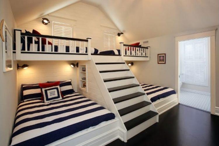 Desain kamar tidur untuk lebih dari 6 orang karya Asher Associates Architects.