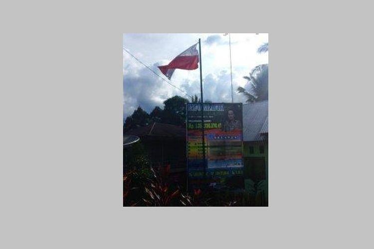Insiden Bendera Merah Putih berkibar terbalik di Kantor Desa Peraduan Temeras, Merangin, Jambi.