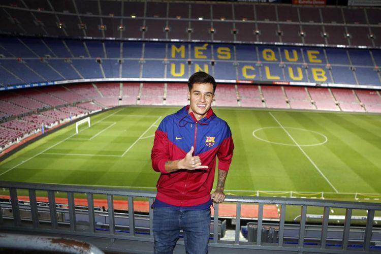 Pemain asal Brasil, Philippe Coutinho, telah resmi menjadi bagian dari klub raksasa Liga Spanyol, FC Barcelona.