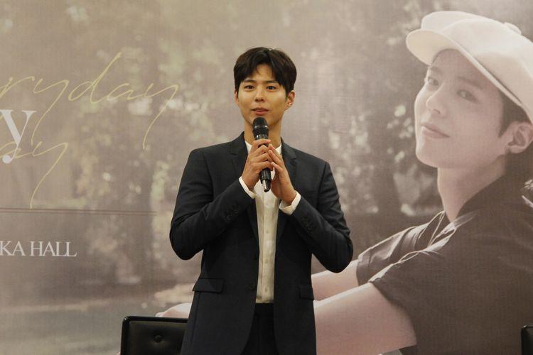 Konferensi Pers Park Bo Gum di Mall Kota Kasablanka, Jumat (22/03/2019)