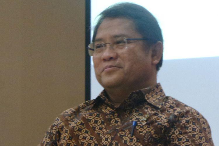 Menteri Komunikasi dan Informatika Rudiantara di Gedung Kompas Gramedia, Palmerah Barat, Jakarta, Selasa (30/1/2018).