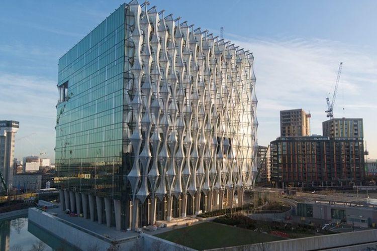 Gedung kedutaan besar baru Amerika Serikat di wilayah barat daya London.