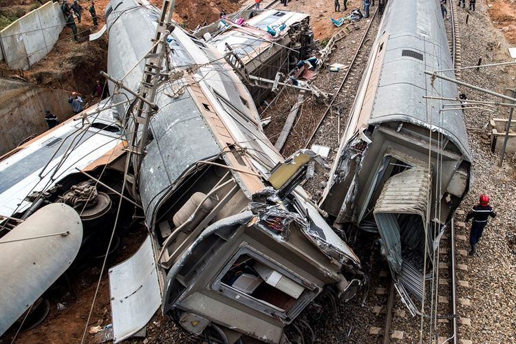 Kereta Api Penumpang Keluar Jalur di Maroko, Sedikitnya 6 Orang Tewas