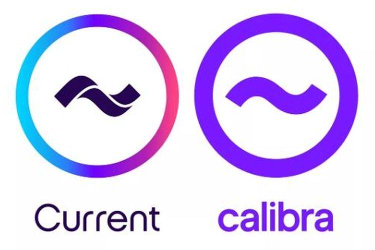 Ilustrasi logo Current dan logo Calibra