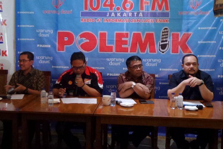 Diskusi Polemik Sindo Trijaya soal First Travel di Cikini, Jakarta Pusat, Sabtu (12/8/2017).