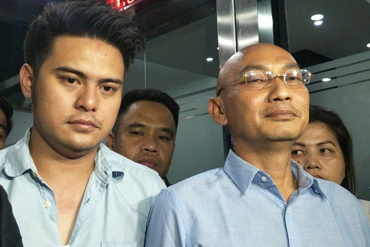 Galih Ginanjar saat menjalani pemeriksaan di Dit Reskrimsus Polda Metro Jaya, Jakarta Pusat, Jumat (5/7/2019).