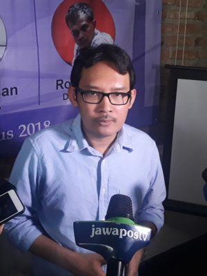 Staf Khusus Presiden Ahmad Erani Yustika dalam acara diskusi SEKNAS FITRA Menakar Politik Anggaran RAPBN 2019 di Jakarta, Minggu (19/8/2018)