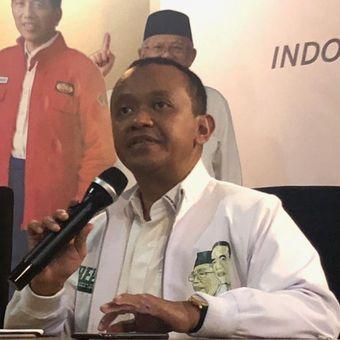 Ketua Umum Himpunan Pengusaha Muda Indonesia (HIPMI) Bahlil Lahadalia di Posko Cemara, Kamis (29/11/2018).