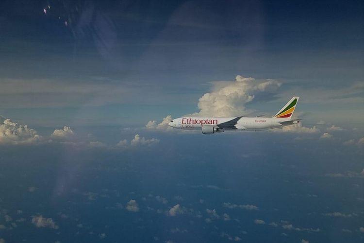 Pesawat Ethiopian Airline callsign ETH3728 yang melakukan penerbangan dari Addis Ababa menuju Hongkong, dipaksa mendarat di Bandara Hang Nadim, Batam, Kepulauan Riau sekitar pukul 09.33 WIB, Senin (14/1/2019) dikarenakan masuk wilayah Indonesia namun tidak memiliki izin.