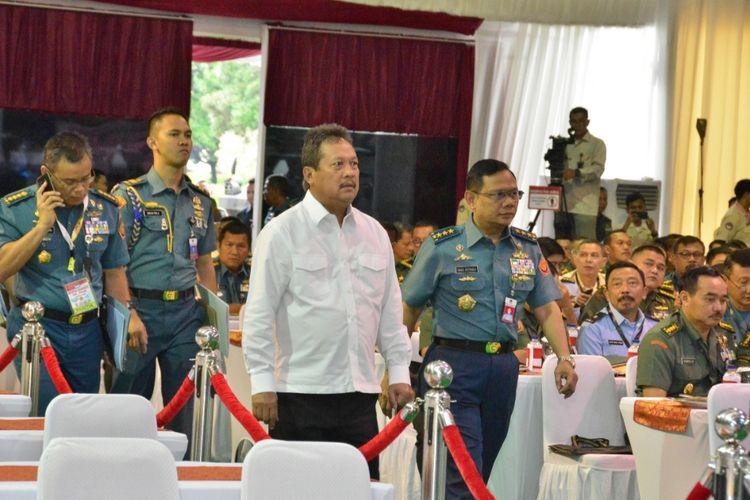 Wahyu Sakti Trenggono ketika menjabat sebagai Wakil Menteri Pertahanan dan membuka Rapat Pimpinan Kementerian Pertahanan (Rapim Kemenhan) 2020 di Kantor Kemenhan, Rabu (22/1/2020).