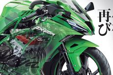 Gambar Kawasaki Ninja 250 4-Silinder Muncul di Jepang