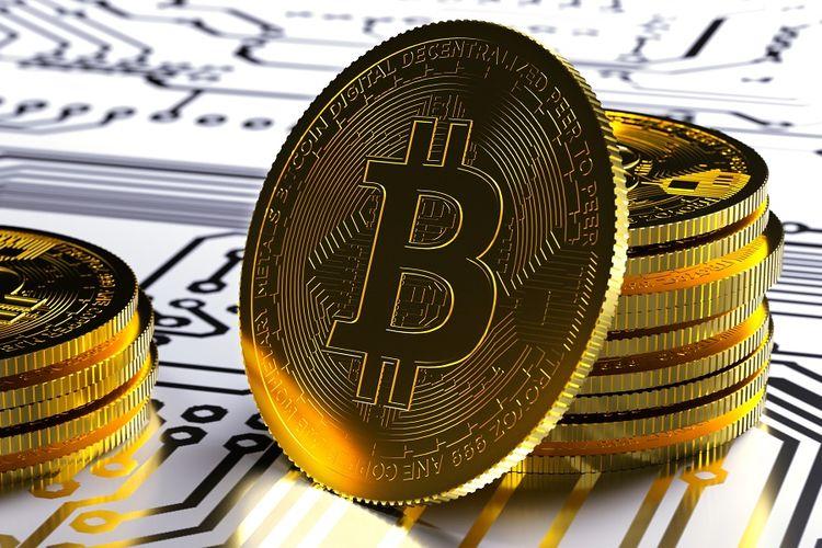 Ilustrasi Bitcoin.