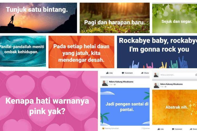 Ramai Status Teks Berlatar Foto Di Facebook Cara Mencobanya