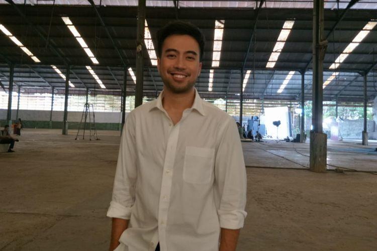 Vidi Aldiano saat ditemui usai shooting video musik I Dont Mind di Gudang Bermis, Pulo Gadung, Jakarta Timur, Rabu (29/8/2018).