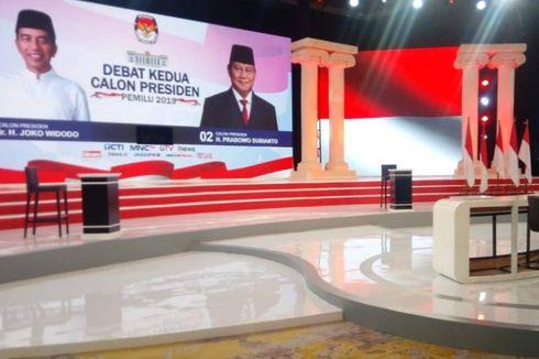 Mengintip Panggung Debat Kedua Calon Presiden Besok