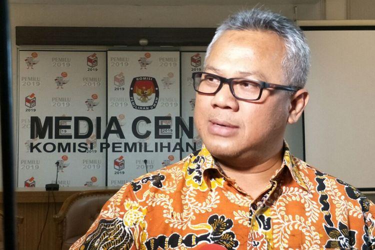 Ketua Komisi Pemilihan Umum (KPU) RI Arief Budiman di Kantor KPU RI, Jakarta, Jumat (16/3/2018).
