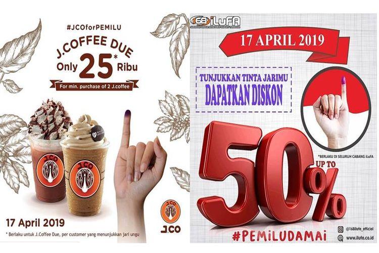 Diskon Pemilu 2019 pada 17 April 2019