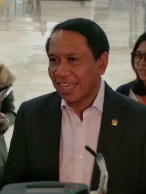 Ketua DPP Partai Golkar Zainudin Amali saat ditemui di Kompleks Parlemen, Senayan, Jakarta, Kamis (11/1/2018).