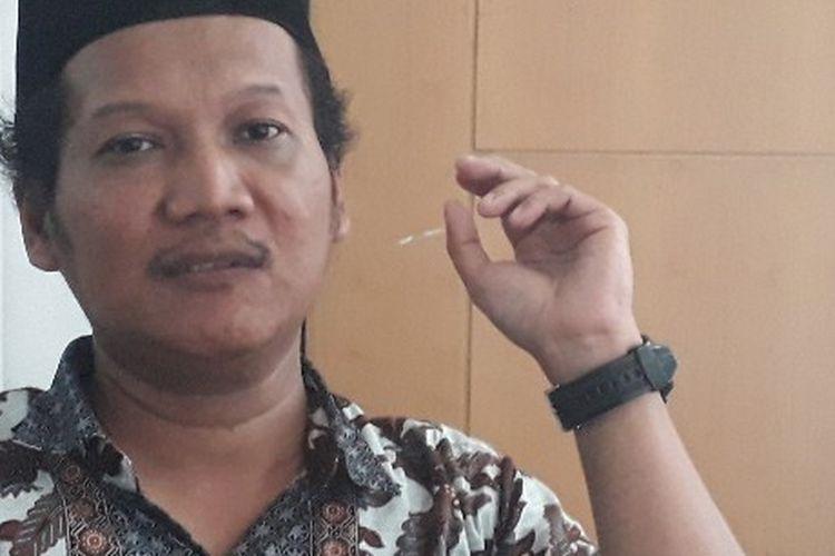 Komisioner KPU Jakarta Timur Suhanda di Gedung KNPI, Selasa (7/5/2019).
