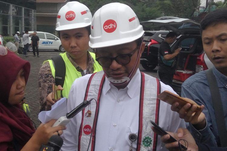 Direktur Operasional II Adhi Karya, Pundjung Setya Brata di Jakarta, Senin (14/1/2019).