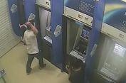 Diusir Satpam Bank saat Berteduh, Pria Ini Hancurkan Mesin ATM