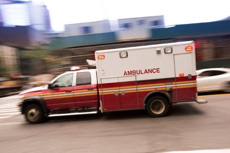 Ilustrasi ambulans.