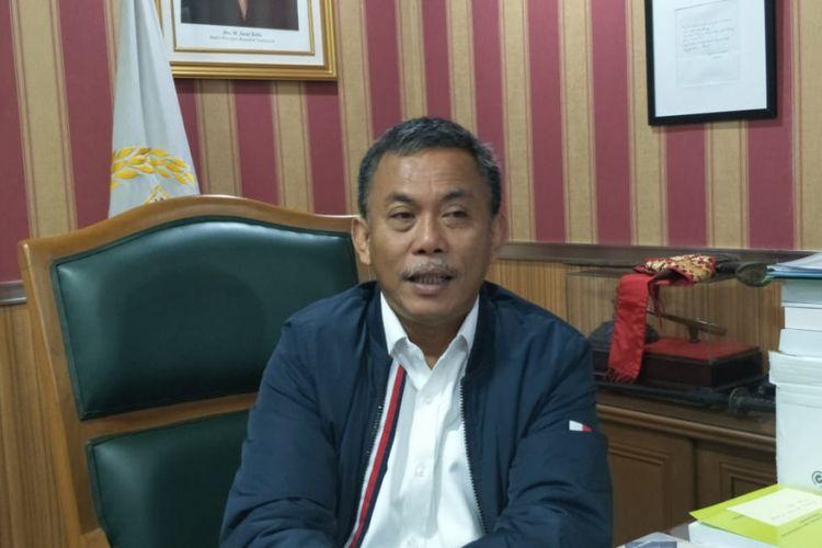 Ketua DPRD DKI Jakarta Prasetio Edi Marsudi di Gedung DPRD DKI Jakarta, Jalan Kebon Sirih, Jakarta Pusat, Senin (4/3/2019).