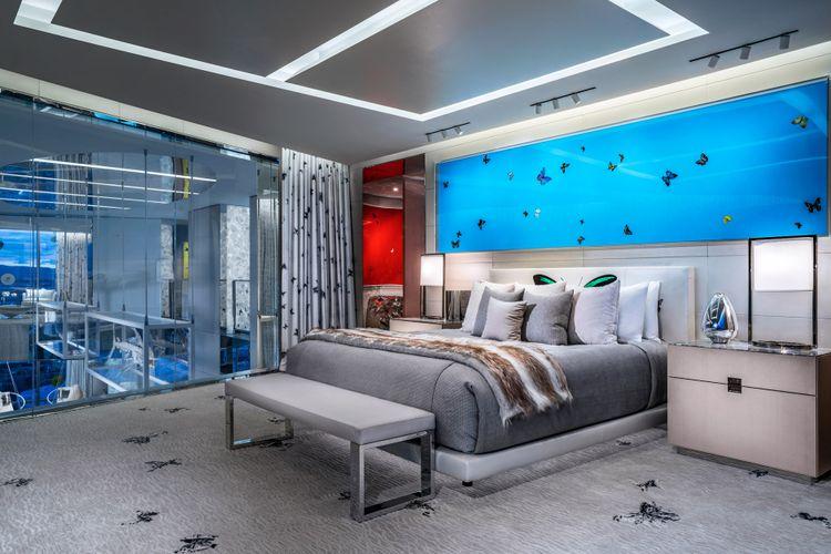 Desain suite room di Palms Casino Resort, Las Vegas, Amerika Serikat.