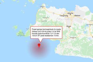 BMKG: Gempa 6,4 Magnitudo Berpusat di Banten, Tak Berpotensi Tsunami