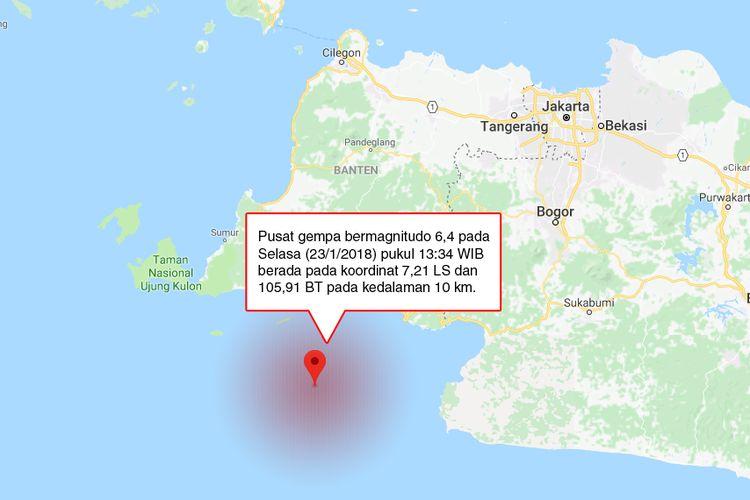Pusat Gempa Berkekuatan M Pada Selasa  Pukul