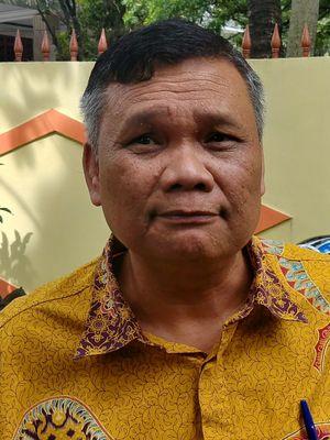 Pengamat politik dari universitas Pelita Harapan Emrus Sihombing di Kantor Kosgoro, Jakarta, Kamis (11/1/2018).