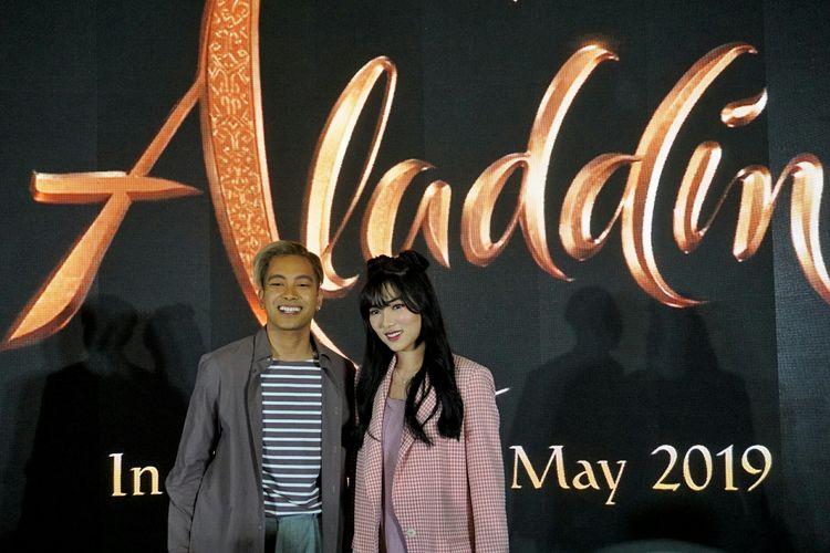 Penyanyi Gamaliel dan Isyana Sarasvati dalam jumpa pers di Hotel Grand Indonesia Kempinski, Tanah Abang, Jakarta Pusat, Jumat (17/5/2019).