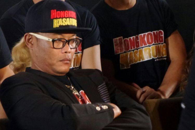 Sule menghadiri jumpa pers dan screening film Hongkong Kasarung di Plaza Senayan, Jakarta Pusat, Senin (12/3/2018) malam.