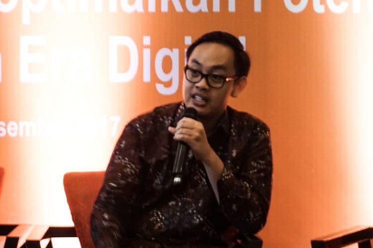 Ekonom Indef, Bhima Yudistira, dalam Entrepreneur Networking Forum, di Lampung, Rabu (13/12/2017).
