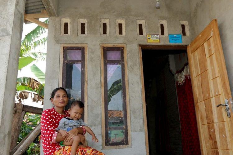 Rumah warga di Lampung Selatan yang menerima bantuan melalui program Bantuan Stimulan Perumahan Swadaya (BSPS).