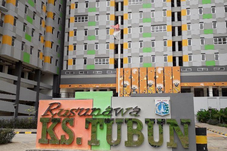 Rumah Susun KS Tubun di Jalan KS Tubun Raya, Palmerah, Jakarta Barat pada Senin (12/3/2018).