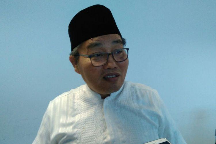 Kepala Badan Pusat Statistik (BPS) DKI Jakarta Thoman Pardosi di Kantor BPS DKI Jakarta, Salemba, Jakarta Pusat, Kamis (14/9/2017).
