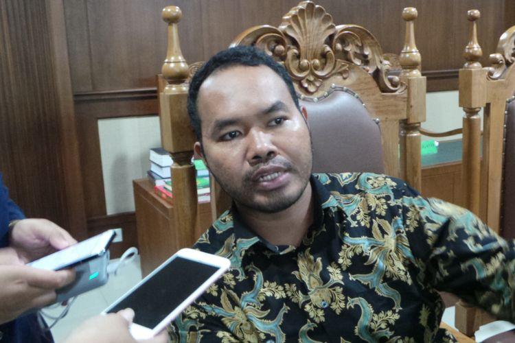 Anggota tim pengurus perkara penundaan kewajiban pembayaran utang (PKPU) First Travel, Sexio Noor Yuni Sidqy, Pengadilan Niaga, Jakarta Pusat, Rabu (18/10/2017).
