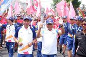 Obor Api Asian Games Mampir di Kantor Telkomsel Bandar Lampung