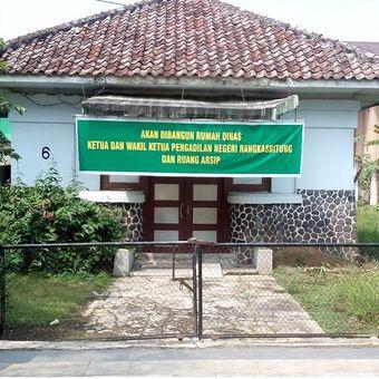 Rumah tua eks ruang sidang anak dan mediasi yang akan dibangun menjadi rumah dinas ketua dan wakil ketua Pengadilan Negeri Rangkasbitung dan ruang arsip.