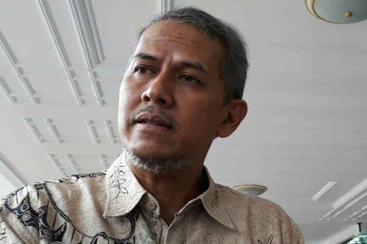 Kepala Pelaksana Badan Pengelola Keuangan Haji (BPKH) Anggito Abimanyu, di Istana Wakil Presiden RI, Jakarta, Jumat (9/3/2018).